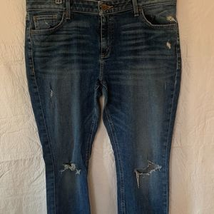 a.n.a. distressed denim jeans